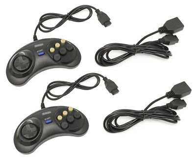 sega genesis wired controller extension cable cord 6 button ebay. Black Bedroom Furniture Sets. Home Design Ideas