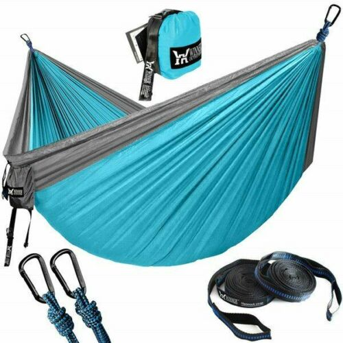 Camping Hammock With Tree Straps Portable Parachute Nylon Hammocks for Outdoor
