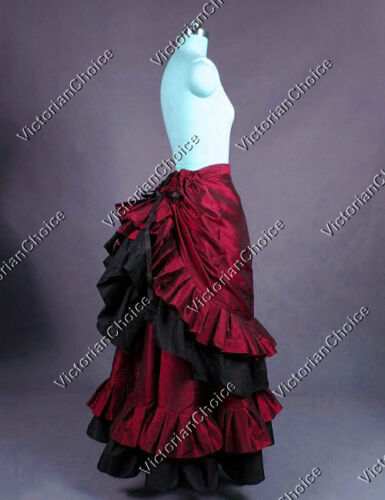 Victorian Skirts | Bustle, Walking, Edwardian Skirts    Victorian Vintage Bustle Fancy Skirt Steampunk Vampire Halloween Costume N K034 $125.00 AT vintagedancer.com