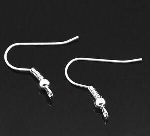 Wholesale Lots Silver Plated Earring Wire Hooks 21x20mm(Lead ,Nickel Free)