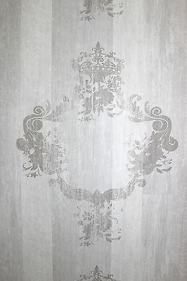 Vlies Tapete 46524 Antik Holz Ornament hell grau Royal Wood Design Elements