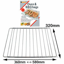 UNIVERSAL Adjustable Extendable Oven Cooker Shelf + BBQ Meat Fish Veg Grill Bags