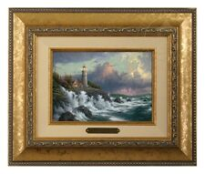 Thomas Kinkade Conquering the Storms - Brushwork (Gold Frame)