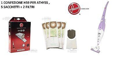 Hoover 35600279 confezione da 5 Sacchetti di carta H59 per aspirapolvere Hoover