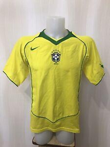 Brazil national team 2004/2006 Home Sz M Nike shirt jersey maillot Brasil soccer