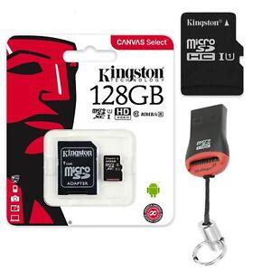 128GB-MicroSD-Speicherkarte-Micro-SDXC-Kingston-SD-Adapter-USB-Kartenleser