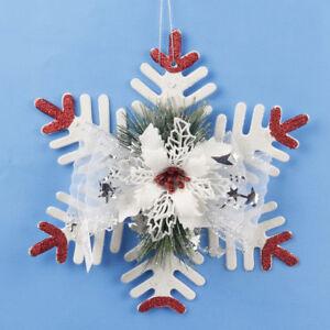 Fj-Lk-Fiocco-di-Neve-Natale-Ornamento-da-Appendere-Porta-Parete-Casa