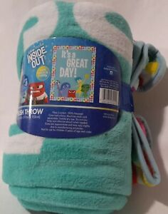 Disney-Pixar-INSIDE-OUT-IT-039-S-A-GREAT-DAY-Plush-Throw-Blanket-46-034-x-60-034-New