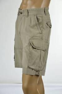 Ralph-Lauren-Mens-Tan-Gellar-Fatigue-Cargo-Chino-Shorts-RL-Logo-Patch-NWT
