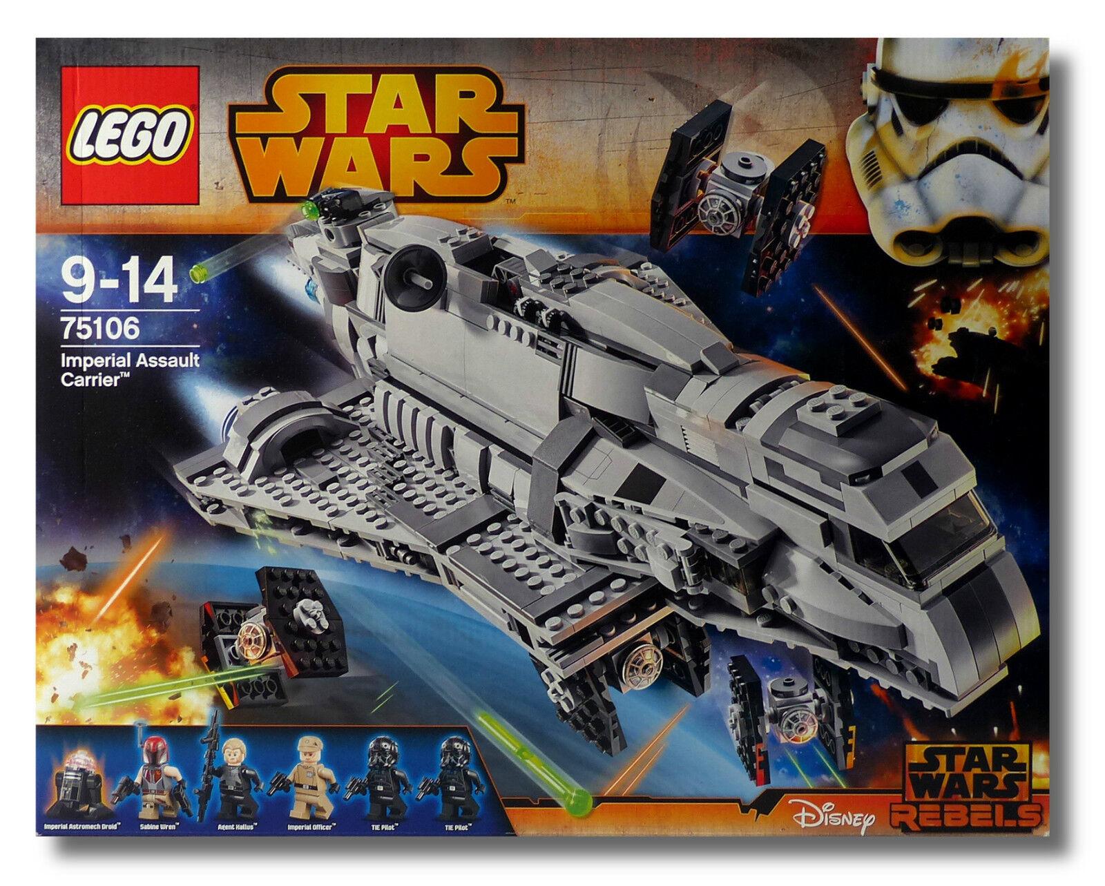 LEGO ® estrella guerras ™ 75106 Imperial Assault  autorier ™ TIE combatientes Nuovo Scatola Originale nuovo MISB  risparmia fino al 70%