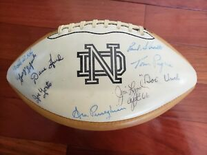 1966-Notre-Dame-National-Champions-Signed-Football