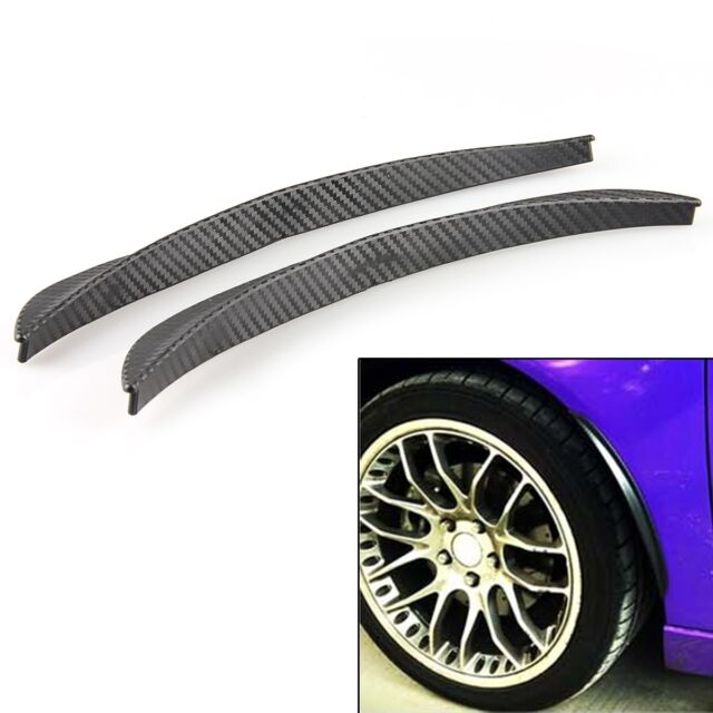 Vehicle Car Fender Flares Carbon Fiber Decoration Style 2Pcs Set Black Small