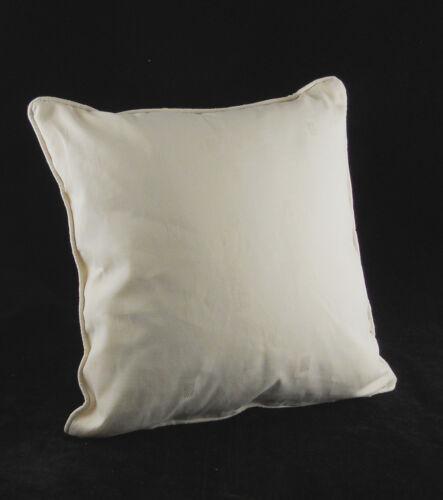 """Cushion Covers Crema Cuadrados Diseño 18/"""" X 18/"""" Paquete de 4 Jacquard Cierre De Cremallera"""
