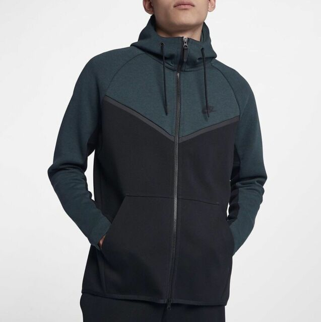 b5a00c90291a Nike Sportswear Tech Fleece Windrunner FZ Hoodie Jungle Green 885904-328  Size SM
