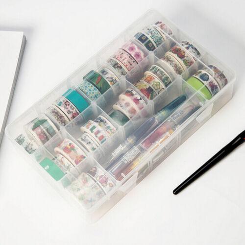 transparent washi tape box stationary storage box washi tape organizer box