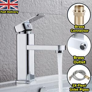 modern square basin mixer tap chrome brass single handle bathroom rh ebay co uk Bathroom Light Fixtures Bathroom Lighting