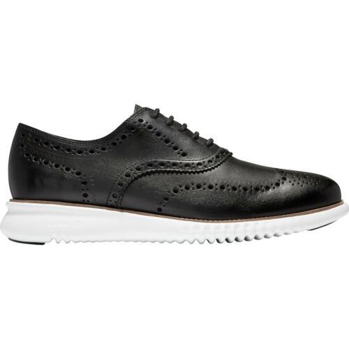 BHFO 5079 D Cole Haan Mens 2.ZeroGrand Black Brogue Oxfords Shoes 11.5 Medium