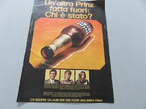 Publicité Sur Pag. D'Origine Années 50/60 Advertising Vintage Bière Prinz Brau
