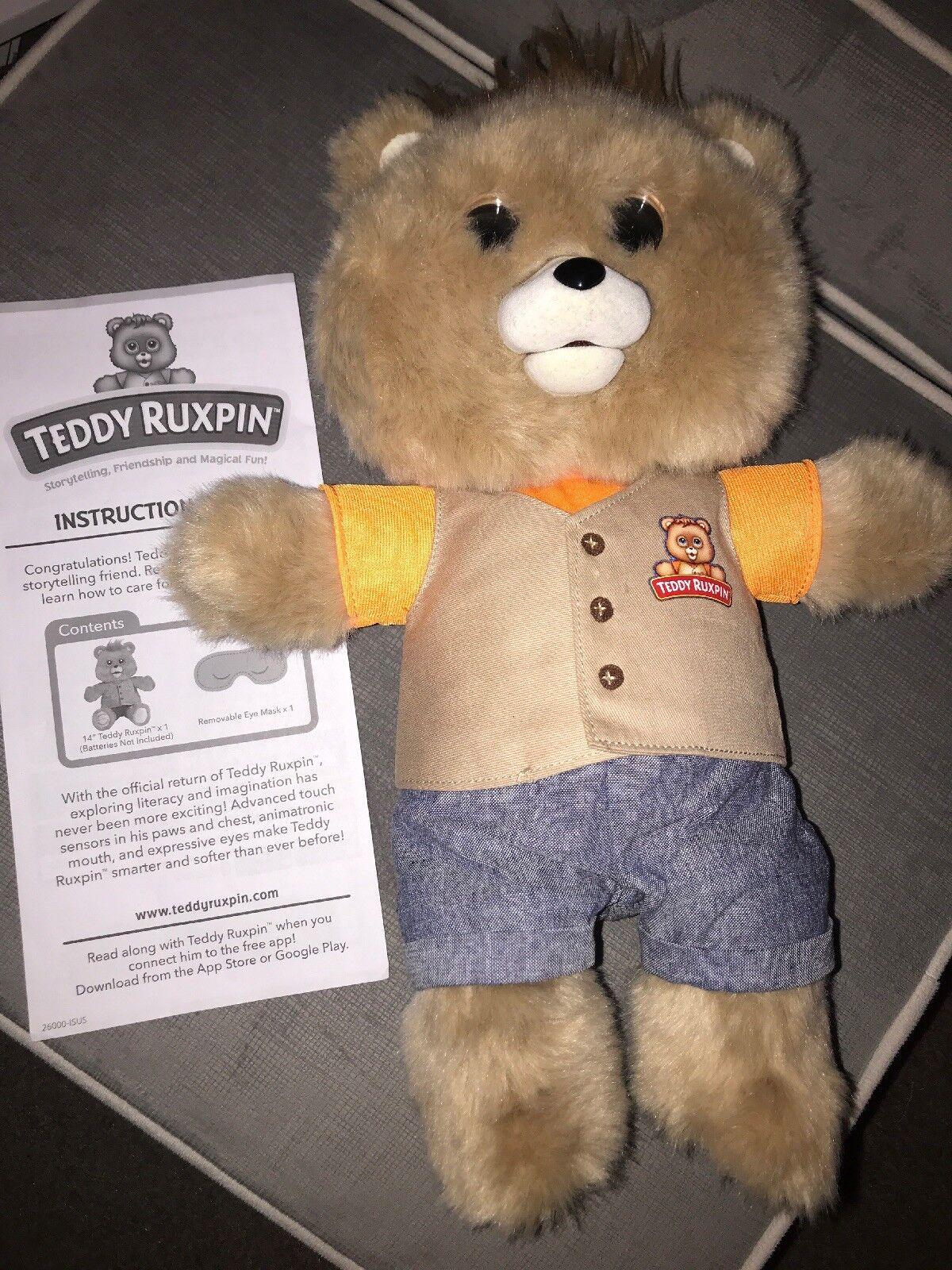 2017 Teddy Ruxpin Official Return of the Storytime Marronee Bear