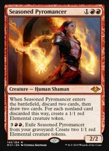 Seasoned Pyromancer 4x NM Modern Horizons NM MTG get 1 free bonus foil rare