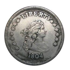 1804-Silber-Muenzen-39mm-Durchmesser-Handgehoben-Koenig-Amerikanischer-Neu