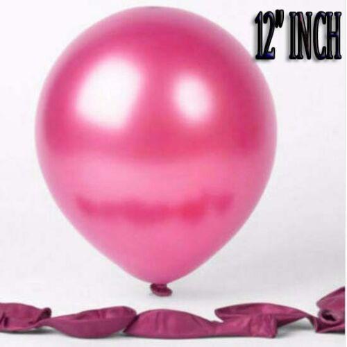 """12/"""" Pouces 20X Latex Perle Ballon Matalic Qualité Fête Anniversaire Mariage Hélium"""