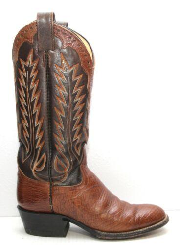 Handmade Brown Snakeskin and GrayBlue Shaft Cowboy Boots