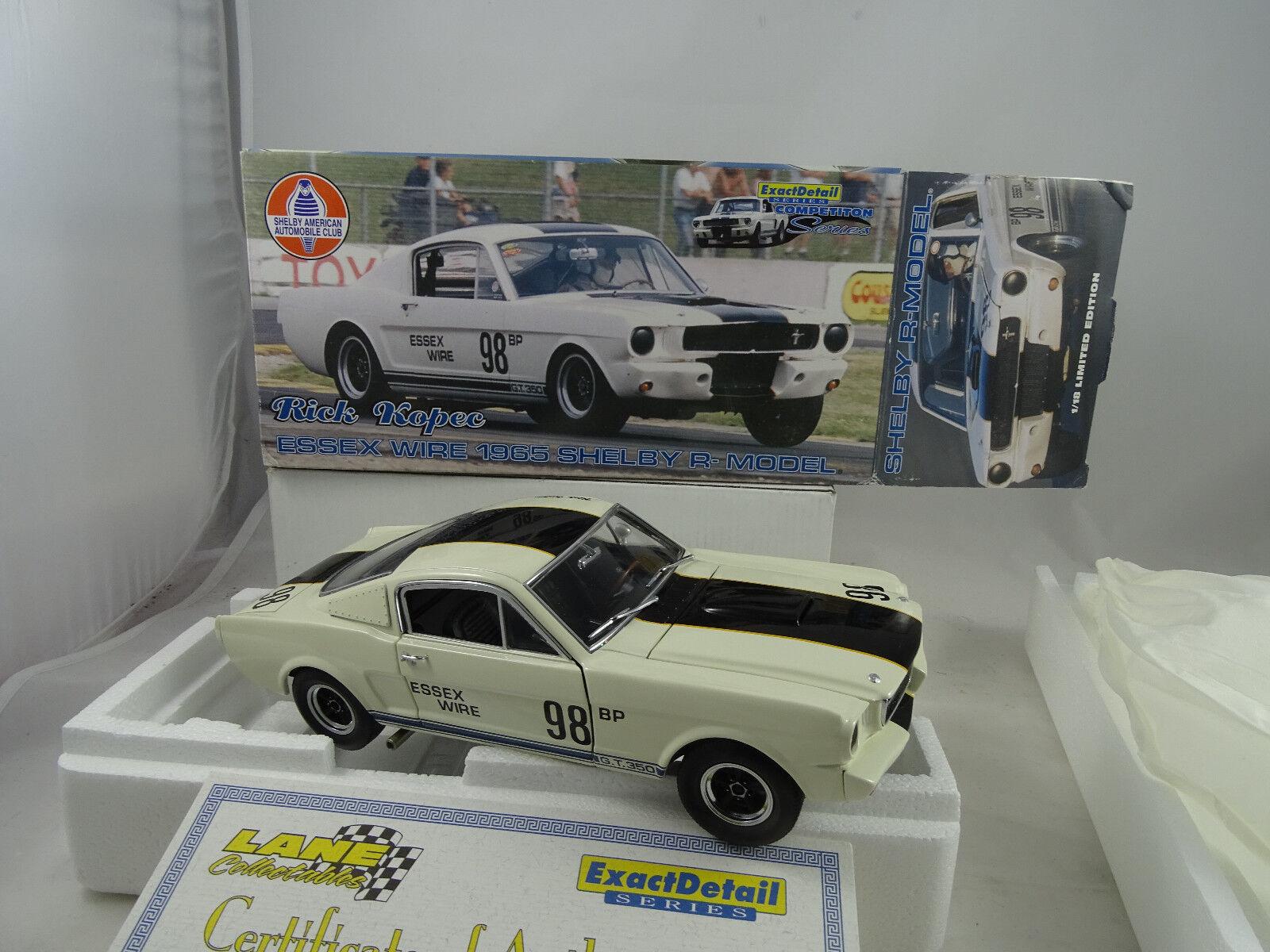 1 18 Esatto Dettaglio  Wcc110 Rick Kopec Essex Filo 1965 Shelby R-Model
