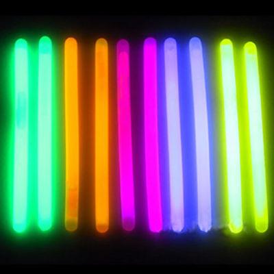 75 6 Inch Glowsticks Glow Light Stick w Necklace String