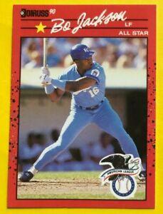 1990 NO Dot Period BO Jackson Donruss ERROR Card #650 Baseball KC Royals RARE