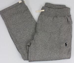 Polo-Ralph-Lauren-Sweat-Pants-Mens-Small-Gray-Black-Pony-Cotton
