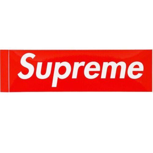 Supreme NY Plastic Tote Bag Red Box Logo Shopping Bag and 2 BOGO Stickers