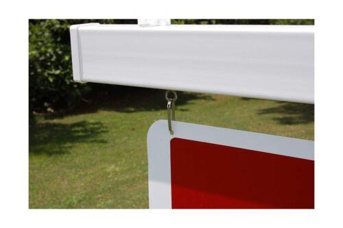 White Single Vinyl PVC Real Estate Sign Post