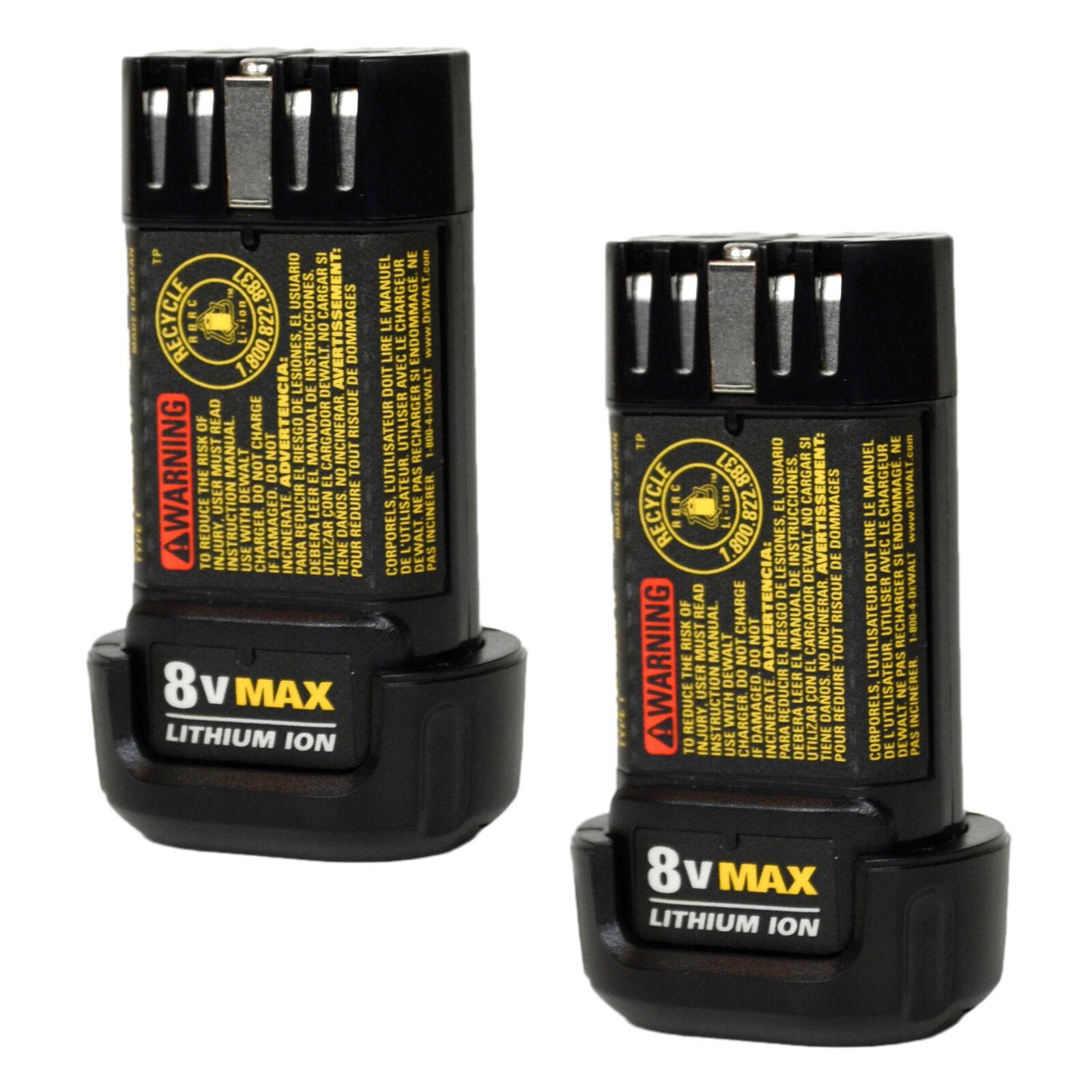 Dewalt DCB080 8V 1.0Ah MAX Li-Ion Battery 2PK for DCL023 DCF680 DCF682 DCB095