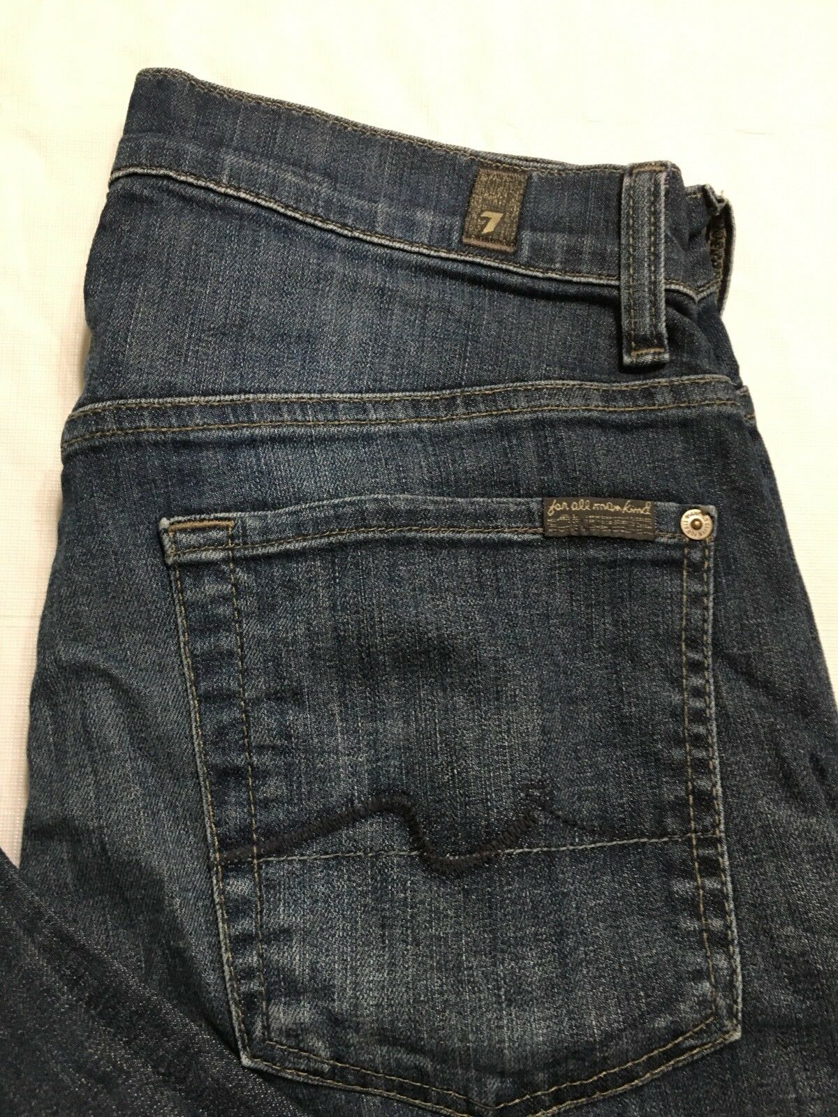 7 Seven For All Mankind Size 28 Austyn Jeans Womens Bootcut Med Wash Distressed