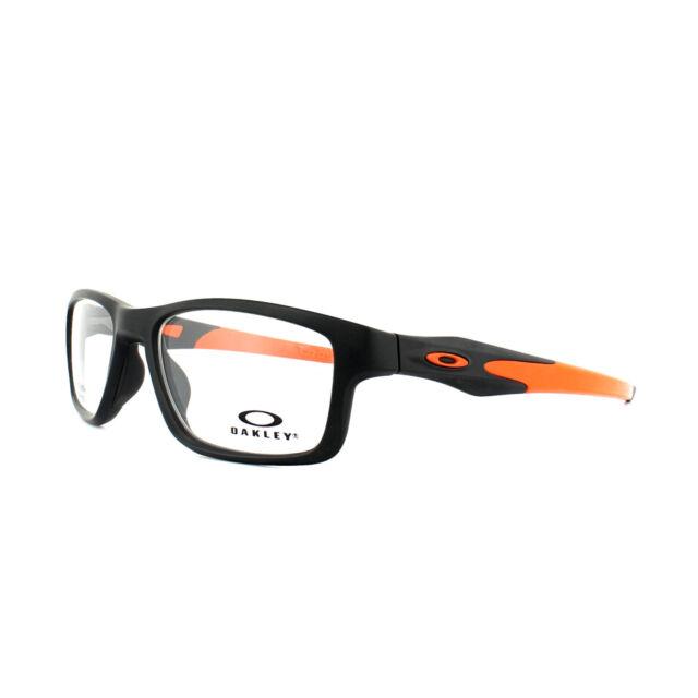 27ceedd3ac Oakley Glasses Frames Crosslink Trubridge OX8090-01 Satin Black Clear Demo