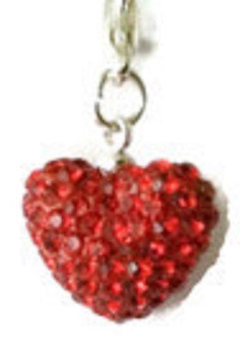 Cristales Brillantes Cristal Rojo Brillante 15mm corazón clip en encanto-Julio birthsone