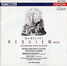 MOZART : REQUIEM KV626, FREEMASON CANTATA KV623 - A. PARROTT / CD - TOP-ZUSTAND