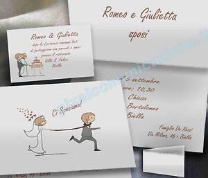 Kit Partecipazioni Matrimonio.Partecipazioni Nozze Inviti Matrimonio Sposi Kit 30 50 70 100