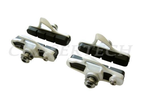New Road Bicycle Bike Caliper Cartridge Brake Pads Shoes White 2 Pairs