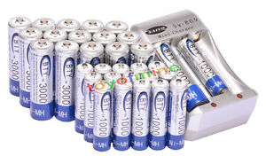 16x AA 16x AAA NiMH rechargeable Chargeur de batterie VENTE