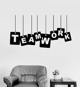 Teamwork Office Wallpaper Collaboration Image Is Loading Vinylwalldecalteamworkofficeworkworkermotivation Unstableartcom Vinyl Wall Decal Teamwork Office ...