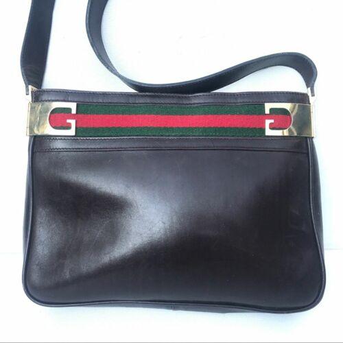 Vintage Gucci Accessory 1970s  stripe shoulder ba… - image 1