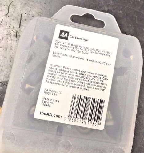 10 x AA Emergency Travel Packs Universal Spare Bulbs /& Fuse Kit H1 H7 H4 BULK