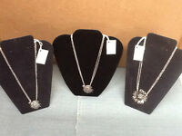 Silver Spoon Jewelry Pendant With 18 Chain Necklace 3 Designs
