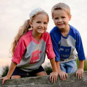 8b2386849 Best Friends Twins Boy/Girl Shirts Raglan Twin tshirts Friendship ...