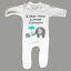 New Arrival I Am The Little Cousin Sleepsuit Romper Suit Baby Grow Elephant Gift