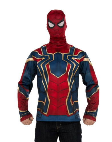 Iron Spider Mens Adult Infinity War Superhero Costume Top And Mask