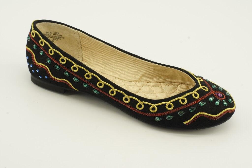 130 NEW Boutique 9 Azure Black Fabric Ballet Flats 5.5 6.5 shoes