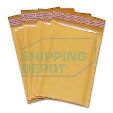 "250 #000 4""x8"" Kraft Bubble Mailers Self Sealing Shipping Envelopes FREE SHIP!"
